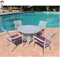 China modern garden dining set furniture rattan with round table RMS-0070 on sale