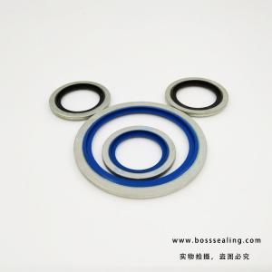 China rubber metal back up ring bonded seals NBR iron dowty washer FKM FPM metal  dowty seals on sale