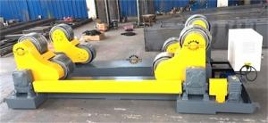 China 20 Ton Self Aligned Welding Rotator Roller Bed With PU Wheels for 6000mm diameter tank on sale