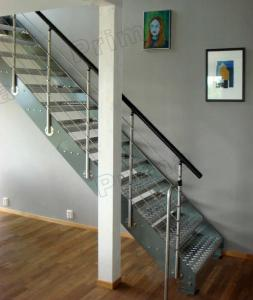 Quality Stainless Steel Trade Staircase House Indoor Metal Stairs For Sale