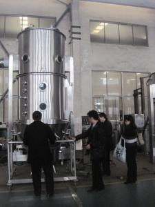 China Fluidized Bed Granulator Machine Pharmaceutical , Tablet Making Machine on sale