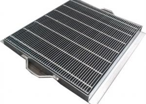 China Anti Slip Galvanized Drainage Grates With Exterior Large Long Square Channel on sale
