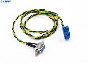 China 9 Pins Female D - Sub Custom Wiring Harness Plug In Terminal Block Colorful Wire on sale