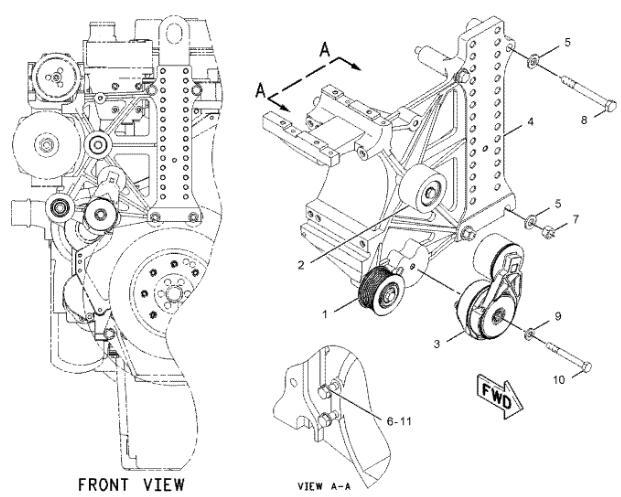 211 7895 Belt Tensioner Excavator Engine Parts For Cat Caterpillar