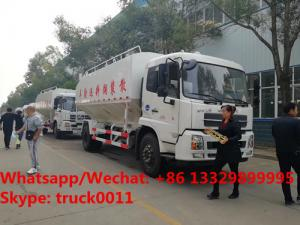 China 2018s new 10tons bulk feeds trucks for animal feed transport tank truck for sale, Dongfeng 20m3 poultry feed truck on sale