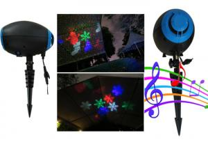China Outdoor Christmas Laser Lights by ABS Material made black house for Holiday decoration on sale