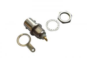 China Copper / Gold Plated Female CCTV BNC Connector , RF Coaxial Cable Connectors on sale