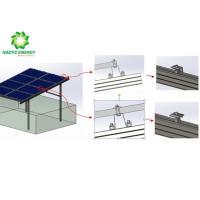 Anti - Corrosion Aluminum Solar Panel Mounting System Anodized Zinc Coated Steel Rails
