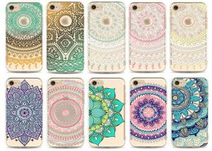 China Flower Decorated Custom Made Phone Cases / Tpu iPhone protective cover on sale