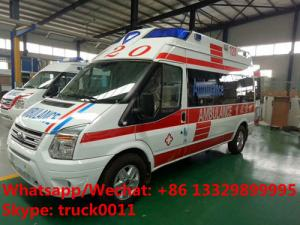 China 2017s best seller-FORD V348 diesel transit ambulance vehicle for sale, high quality and low price FORD diesEL ambulance on sale