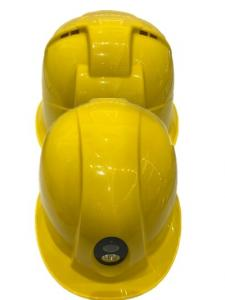 China Hd Safety Helmet Camera Yellow Color MTK8735 Chipset Replaceable 2600 MAh Battery on sale