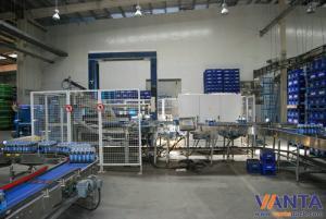 China Machine de palletisation automatique de convoyeur de rouleau avec le convoyeur à bande à deux vitesses on sale