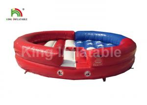 China Adults Red Round Balance Inflatable Sports Games With Fighting Cow on sale