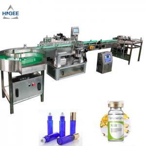 China Cosmetics label applicator PLC automatic labeling machine for alcohol whisky bottle wrap hair spray tin milk  can adhesi on sale