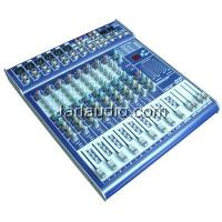 China Double 7-band Audio Powered Mixer With 6 - 24 Line Microphone on sale