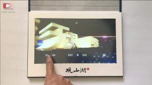 China High impact A4 size video brochure 10'' high resolution video advertising book touch screen video player card on sale