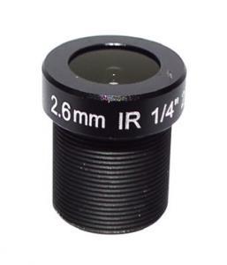 China Tachograph Lens M12 Fixed 1/4 2.6mm 120 Wide Angle CCTV Lens For OV9712/OV9732/H42 HD 720P CCTV Camera on sale