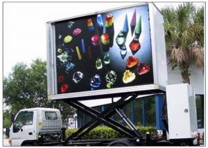 China 3 Sides Electronic Full Color Outdoor Message Boards ,  DIP346 LED Sdvertising Truck on sale