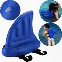 Thick Vinyl Shark Fin Inflatable Kids Toys / Swim Ring Float