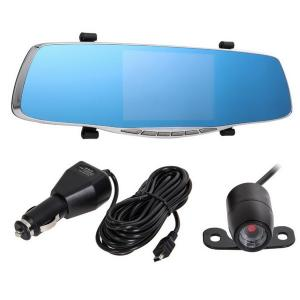 China 4.3 inch car reaview mirror car dvr mirror with Dual lens car hd 1080p dvr camera on sale