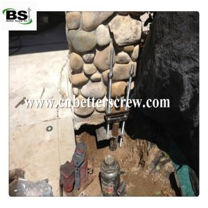 China helical brackets or underpinning brackets for residential foundation repair on sale