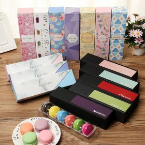 China Colorful Macaron Packing Cardboard Drawer Box , Eco Friendly Food Packaging on sale