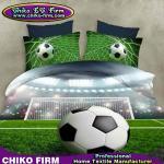 La cubierta pura del edredón de la impresión del diseño 3D del fútbol del poliéster fija