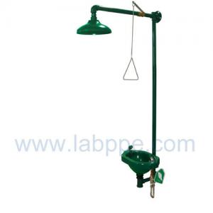 Quality SHH100-Safety shower & eyewash station,Galvanized Iron,Color:Yellow,red,green for sale
