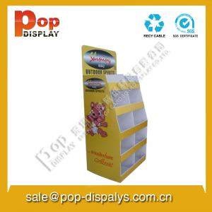 China Book / Brochure Corrugated Pop Display With Offset Printing on sale