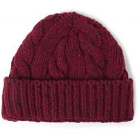 Cable Burgundy Knitted Beanie Hat Made In China Winter Hat