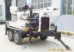 China 150m Dth Mud Drilling Trailer Mounted Drilling Rig With 45kw Diesel TWD150 on sale