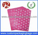 Reusable Die Cut Handle Printed Plastic Bags With Side Seal For Shopping