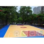 Outdoor Basketball Sport Court Field Flooring Easy To Construct , IAAF / ITP Certificate