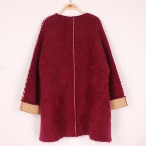China Plus Size Womens Cashmere Sweaters / Autumn Cardigan Sweaters With Pockets on sale