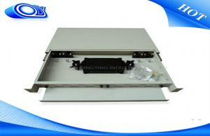 China 24 Port Optical Fiber Patch Panel 300 * 180 * 25mm Drawer Structure For LAN / WAN on sale