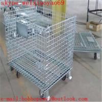 galvanized wire mesh container/stackable storage bins/metal storage containers/ galvanized treatment storage cabinets