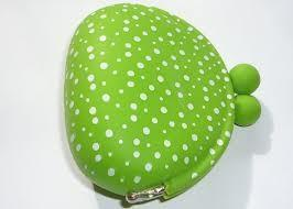 China Green polka dots euro coin wallet promotional silicone gift with logo for teenagers  on sale