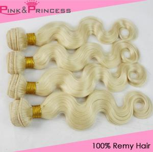 China Cheap #613 Blonde Brazilian Virgin Human Hair Wefts,Body Wave,Hair Weaves on sale
