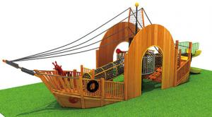 China Moetry Wooden Children Pirate Ship Playground Equipment Outdoor Playground for Sale on sale