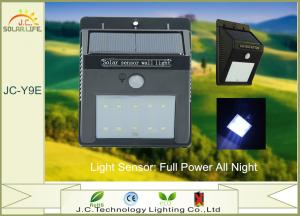 China 200LM IP65 1W SMD 2835 Solar Motion Detector Lights With 3.7v 900mah Battery on sale