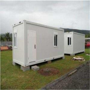 China Standard Flat Pack Movable Sandwich Panel Prefab Container House on sale