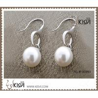 Fashion Jewelry 925 Sterling Silver Gemstone Earrings with Imitated Pearl W-AS993
