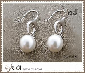 China Fashion Jewelry 925 Sterling Silver Gemstone Earrings with Imitated Pearl W-AS993 on sale