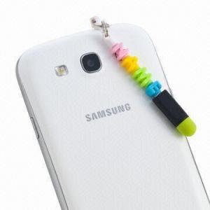 China Colorname-series Letters and Headphone Jack Plug with Stylus Pen Function on sale