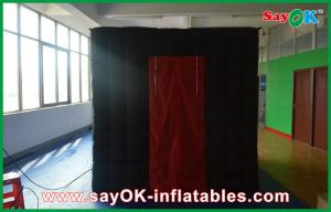 China Black Inflatable Photo Booth 2.5mx2.5mx2.5m Photobooth For Photo on sale