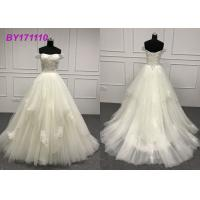Off The Shoulder Bridal Ball Gowns For Slim Girls Short Sleeve Vintage Plus Size