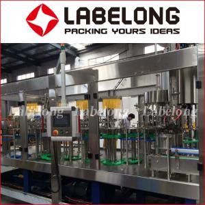 China 15000BPH Juice Bottling Machine For Orange Fresh Fruit Juice PLC Control on sale