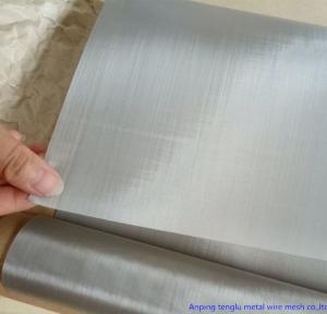 China Plain Twill Dutch Woven Stainless Steel Wire Mesh Screen Customized Size 100'' Length on sale