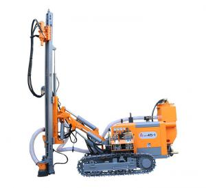 China High Performance Dth Rig Machine Without Cab , 90mm - 115mm Blasing Hole Air Drilling Rig on sale