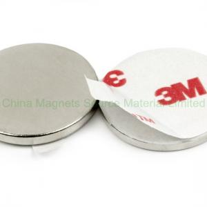 China Disc D12x2 mm self-adhesive N35 permanent magnet on sale